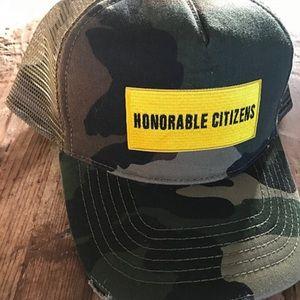 Choose one: HC Logo Camo Green Mesh Trucker Hat